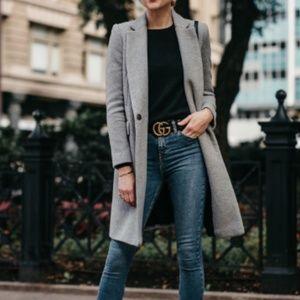 Zara Basic Grey Wool Coat